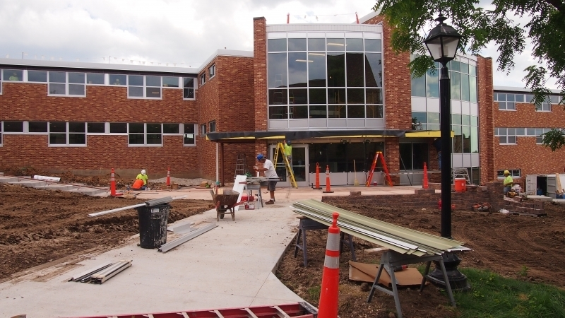 New entrance to Saint Anthony Hall