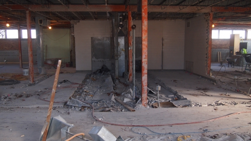 Demolition of interior walls