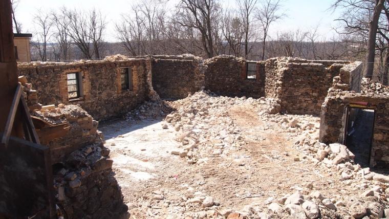 The ruins of Saint Joseph Hall