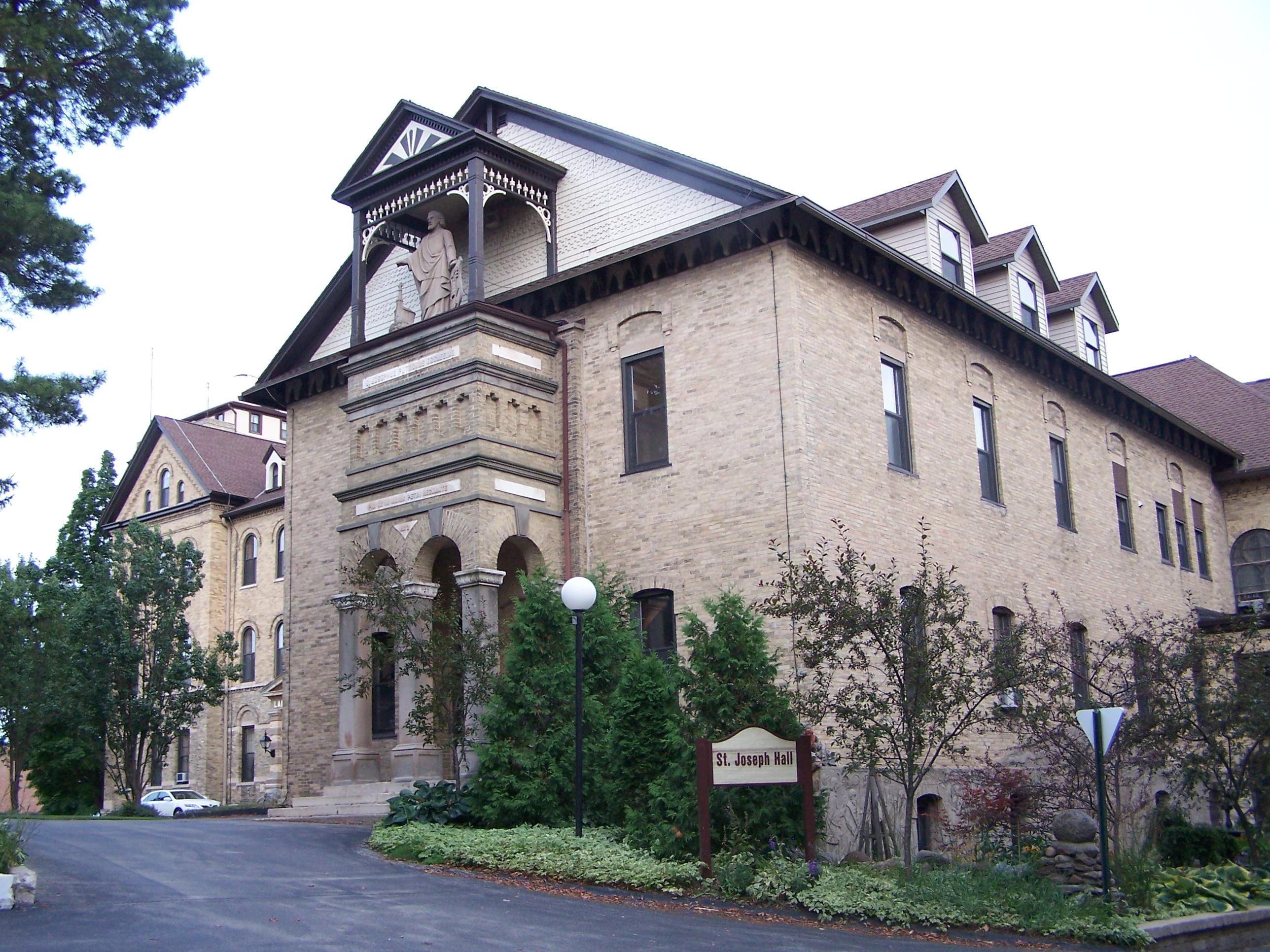 Saint Joseph Hall before fire