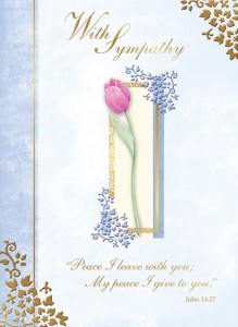 With Sympathy - front of card - League of Saint Anthony Sympathy Card