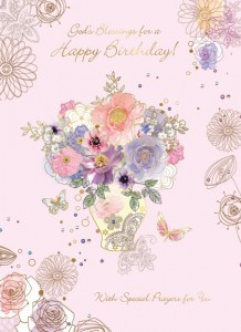 God's Blessings for a Happy Birthday - front of card