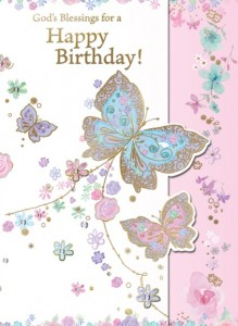 God's Blessings for a Happy Birthday - front of card - League of Saint Anthony Birthday Enrollment Card