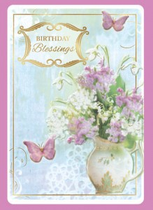 Birthday Blessings - front of card