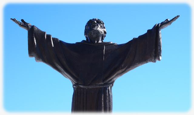 Statue of Saint Francis at St Lawrence Seminary