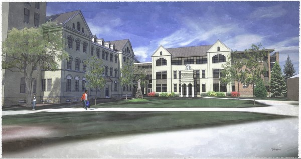 Saint Joseph Hall Rendering - East - Groundbreaking on March 6, 2015