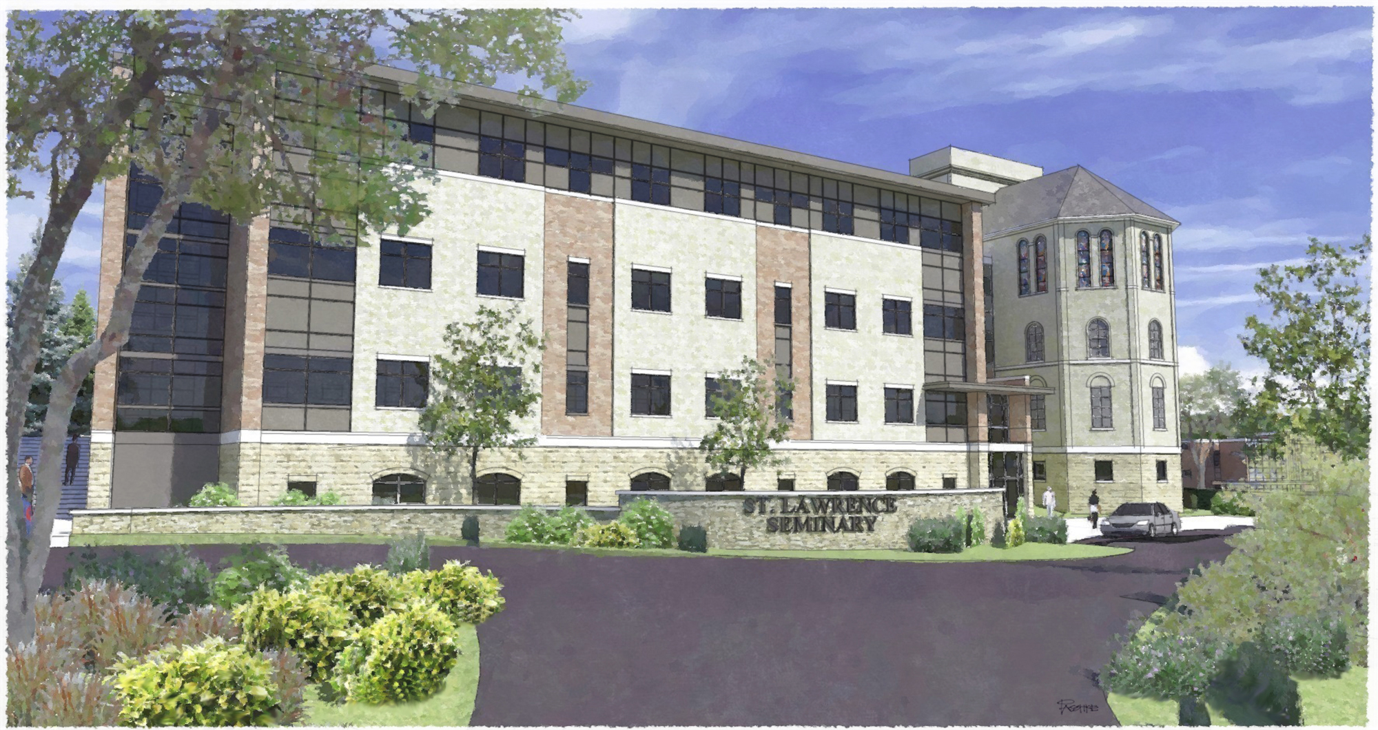 Saint Joseph Hall Rendering - West