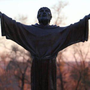 St. Francis Statue at Saint Lawrence Seminary - Thanksgiving 2016