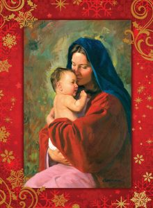 Madonna and Child - Christmas Card cover